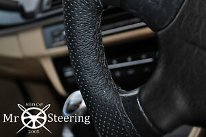 FOR MERCEDES SL R107 PERFORATED LEATHER STEERING WHEEL COVER 71-89 DOUBLE STITCH