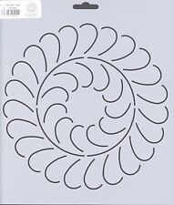 Quilting Stencil Template - Large Round Feather Circle Design - Made in the US