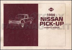 1984 Nissan Camioneta Camión Propietarios Manual Guía Libro 720 Pick-Up Gas