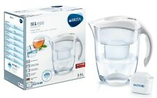 BRITA Elemaris XL Water Filter Jug and Free Brita Filter Cartridge White