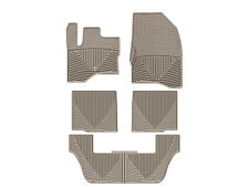 WeatherTech All-Weather Floor Mats for Ford Flex 2009-2010 1st 2nd 3rd Row Tan
