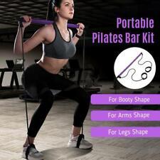 New listing Portable Pilates Kit Yoga Bar  Resistance Trainer Band Exercise Tick Toning Gym