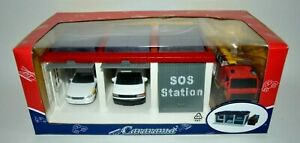 CARARAMA RESCUE SOS STATION GARAGE WITH 3 MODELS. NEW