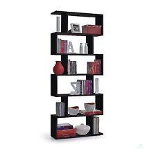 Black Storage Display Large Room Divider Contemporary Bookcase Modern Shelf Unit