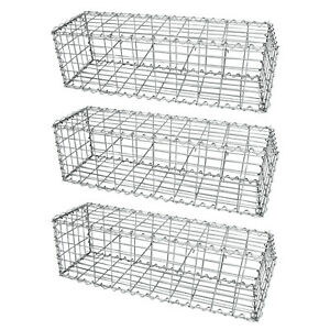 Gabion Baskets Garden Mesh Outdoor Patio Cages Wire Stone Wall Planter Border
