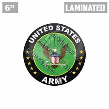 "1 Custom X LARGE Laminated Glossy 6"" 3M Premium Decal Sticker - US ARMY GREEN"