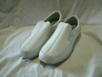 Cobbie Cuddlers Women's White Leather Nurse Shoes Loafers size 7W