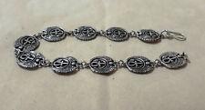Ankh key of life, Isis Wings. Hallmark Egyptian Pharaoh Silver Cuff Bracelet,