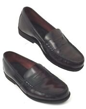 Rockport APM 79232 Burgundy Leather Slip On Dress Penny Loafers Men's 9M