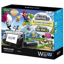 Nintendo Wii U Mario & Luigi Deluxe Set 32GB Black Handheld System