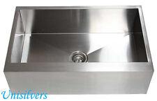 """30"""" Farm APRON Kitchen Stainless Steel Sink Flat Front Zero Radius Single Bowl"""