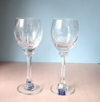 Rogaska Kathy Ireland Tranquility Wine Set of 2 Glasses Etched Crystal New!