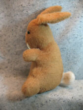 """cute vintage old Large light brown tan Cotton tail Bunny Rabbit 16"""" tall"""