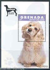 Grenada Dogs Of The World American Cocker Spaniel Souvenir Sheet