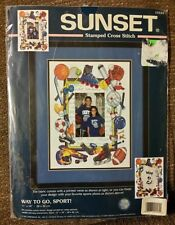 Sunset Stamped Cross Stitch Picture Frame Kit WAY TO GO, SPORT! 13124