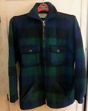 Traverse Bay  Woolen Co. Mens Wool  Coat Jacket Blue/Green Plaid