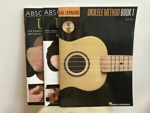 Absolute Beginners Ukulele Book 1&2 / Ukulele Method Book + CDs Combo Learners
