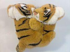 Tiger Cub Duo Wrestling Pose Plush Stuffed Safari Animal Babies with Tag