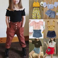 2PC лето для детей ясельного возраста дети Baby девочек, футболка, топы + шорты брюки наряды одежда комплект