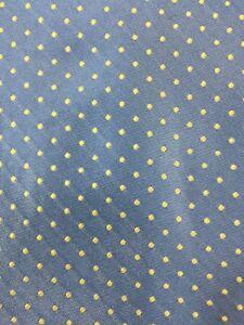 """Oscar De La Renta Blue Polka Dot Tie L 60"""" W 4"""" P1-25"""