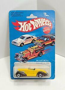 Auburn 852 Yellow with Brown Fenders Basic Hong Kong 1981 Hot Wheels 462