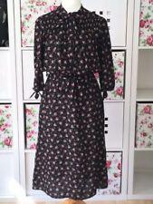 Viscose/Rayon Plus Size Tea Vintage Dresses for Women