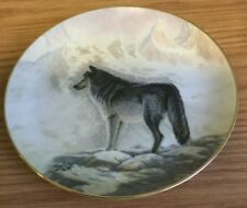 "1989 Perillo Art Affects ""Timber Wolf"" Collector Plate Coa"
