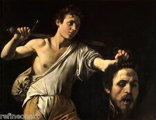 Caravaggio David with the Head of Goliath Oil Painting Canvas Print