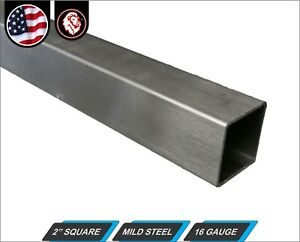 "2"" Square Tube - Mild Steel - 16 gauge - ERW - 60"" inch (5-ft)"