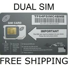 Net10 Dual Sim Card 4G Lte Large / Micro - At&T Network