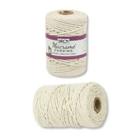 Macrame Cording - 4mm x 80m -100% Cotton BIRCH
