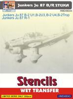 H-Model Decals 1/48 Junkers Ju 87B/R 'Stuka' Stencils # 48043