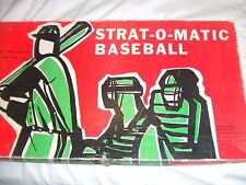 1968  Strat O Matic Baseball Game original  20 teams PLUS ALL 80 expansion cards