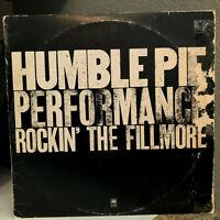 "HUMBLE PIE - Performance: Rockin' The Fillmore - 12"" Vinyl Record LP - VG+"