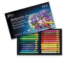 Watercolor Crayons Mungyo Non-TOXIC 24 Assorted Colors Crayons 24 Colors