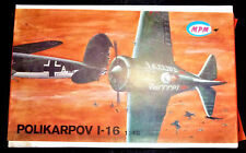 MPM POLIKARPOV I-16 Airplane 1/48 MODEL KIT NEW RUSSIAN Fighter Plane