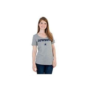 Dallas Cowboys Nike Women's Lockup T-Shirt - Gray