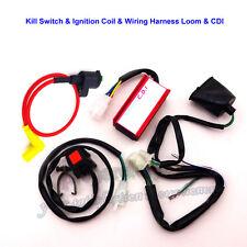 Dirt Pit Bike Racing Ignition Coil AC CDI Box Wiring Loom Harness Kill Switch