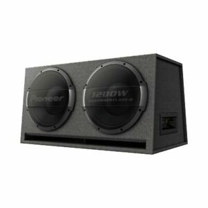 "PIONEER TS-WX1220AH Amplified Car Subwoofer 1200W 2)12"" Subwoofers in Ported box"