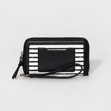 Women's Wristlet Zip-Around Phone Wallet with Exterior Pocket - Mossimo Supply C