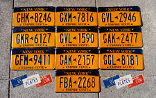 10 NEW YORK TAXI GRAPHIC LICENSE PLATES TAGS DECOR BULK SET LOT ART BIG APPLE