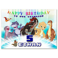 g044 Special Personalised Birthday greeting CARD with your text; Dinosaurs
