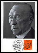 Federal Mk 1968 567 Konrad Adenauer maximum tarjeta Carte maximum card mc cm ds12
