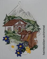 Plauener punta ® finestra Immagine paesaggio alpino Fensterdeko paesaggio ALPI MUCCA