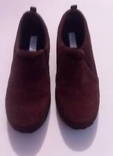 Sonoma Candy Brown Leather Suede Womens Shoes 8M Slip On Comfortable Clogs