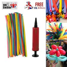 40 Modelling Balloons & Pump Party Kids Birthday Creative Wedding Games Fun Play