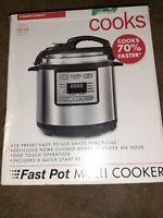 Cooks Fast Pot Multi Instant pressure Cooker Pot 6 quart