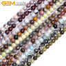 "Wholesale Natural Gemstones 6mm Round Spacer Beads For Jewellery Making 15"" UK"