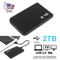 "Portable USB 3.0 2TB 2.5"" External Hard Drive Disk Ultra Slim For PC Laptop TH"