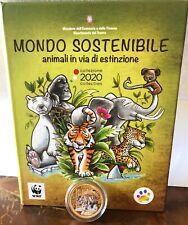 > moneta TIGRE 2020 ITALIA 5 EURO Mondo sostenibile Animali in via di estinzione